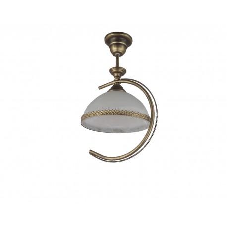 Lampa pojedyncz korona mała czarno złota