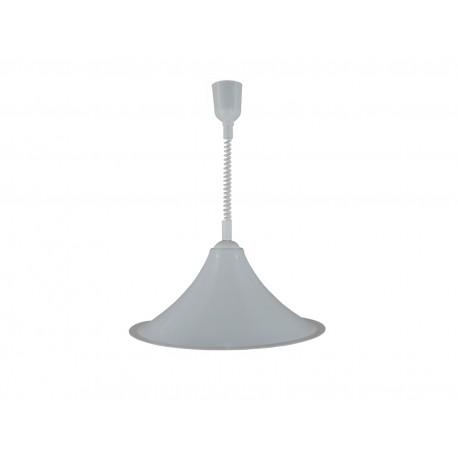Lampa pojedyncza acryl stożek biały
