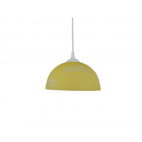 Lampa pojedyncza półkula 250 fala żółta