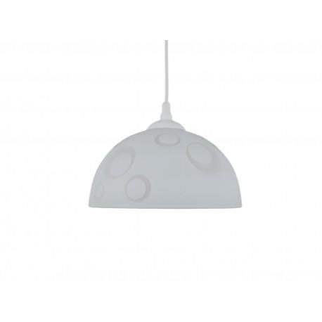 Lampa pojedyncza półkula 250 koła biała
