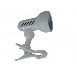 Lampa biurkowa klips E14 biała