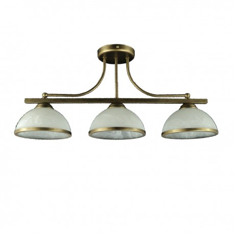 Lampa sufitowa Oli 3-ka c-z klosz z ramką