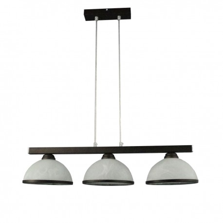 Lampa wisząca 3-ka linki prosta venge klosz 12gr