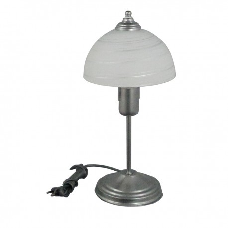 Lampa stołowa srebrna LD