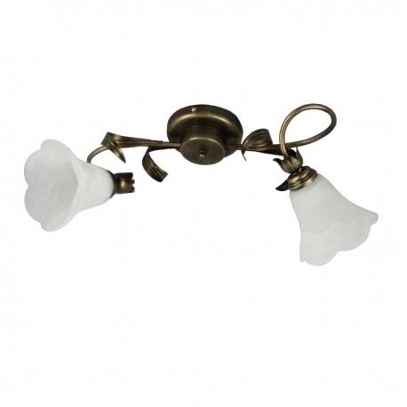 Lampa sufitowa 2-ka kręcona z liściem