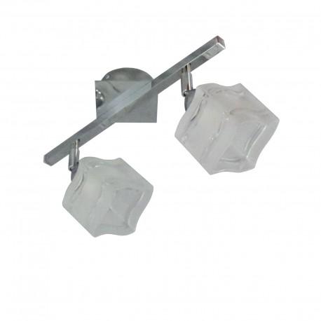 Lampa listwa dwójka (spot) chrom kwadrat