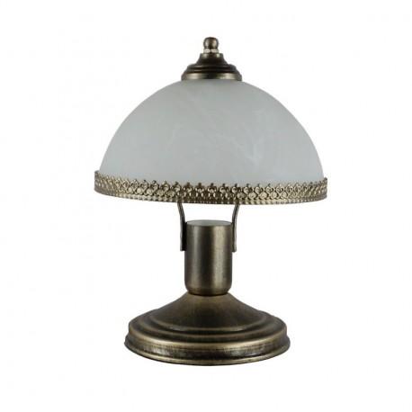 Lampa nocna mała korona malowana na patynę.