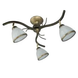 Lampa sufitowa 3-ka słońce cz-zł men