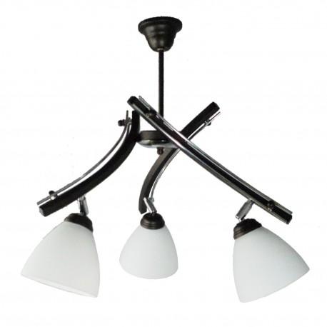 Lampa wisząca BRUNO 3-ka venge - przeguby