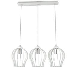 Lampa ażurowa AZALIA 3-ka biała