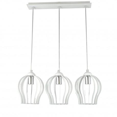 Lampa industrialna ażur duży 3-ka biała