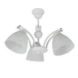 Lampa wisząca 3-ka SAN biała perła