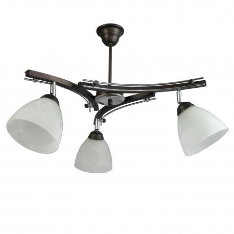 Lampa wisząca NEVIA 3-ka srebrna przeguby