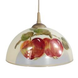 Lampa malowana jabłka
