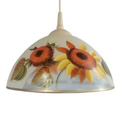 Lampa malowana słonecznik