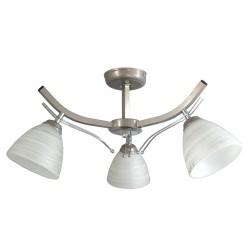 Lampa sufitowa SATURN 3-ka srebrna klosz owal