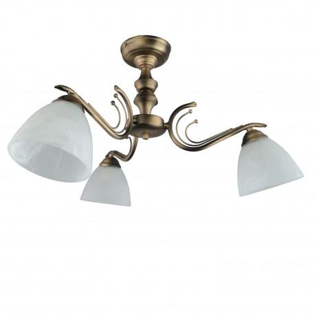 Lampa sufitowa  trójka LUK patyna malowana