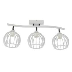 Lampa industrialna ażurowa mała 3-ka biała