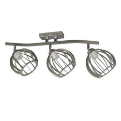 Lampa industrialna ażur mały 3-ka srebrna