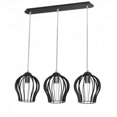 Lampa ażur duży 3-ka czarna