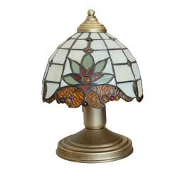 Lampa nocna witraż mała malowana na patynę.