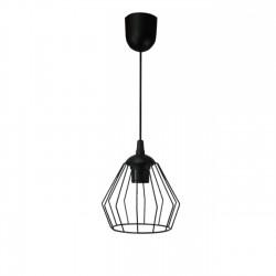 Lampa koszyk loft diament czarna