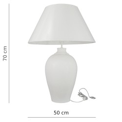 Lampa porcelanowa duża 70cm biała