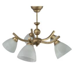 Lampa wisząca KULA 5 kolor patyna klosz z ramką